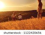 happy family having fun playing ... | Shutterstock . vector #1122420656