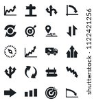 set of vector isolated black... | Shutterstock .eps vector #1122421256