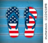 flip flops in us national... | Shutterstock .eps vector #1122421898