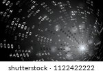 binary code tunnel  vector... | Shutterstock .eps vector #1122422222