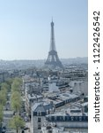view of the eiffel tower from... | Shutterstock . vector #1122426542