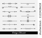 dividers vector set isolated.... | Shutterstock .eps vector #1122428618