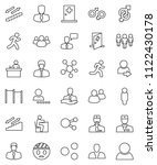 thin line vector icon set  ... | Shutterstock .eps vector #1122430178