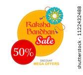 vector abstract for raksha... | Shutterstock .eps vector #1122432488