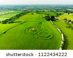 aerial view of the hill of tara ... | Shutterstock . vector #1122434222