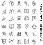 thin line vector icon set  ... | Shutterstock .eps vector #1122438662