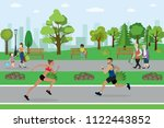 public park and different... | Shutterstock .eps vector #1122443852
