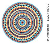 embroidered mandala on a white... | Shutterstock .eps vector #1122445772
