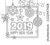 new year congratulation card... | Shutterstock .eps vector #1122447428