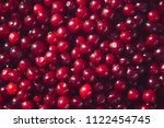 sweet dark red cherry ... | Shutterstock . vector #1122454745