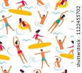 summertime vintage seamless... | Shutterstock .eps vector #1122455702