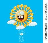 vector funky cartoon summer sun ...   Shutterstock .eps vector #1122457856