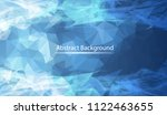 abstract dark blue polygonal... | Shutterstock .eps vector #1122463655