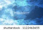 abstract dark blue polygonal... | Shutterstock .eps vector #1122463655