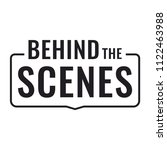 behind the scenes. badge  stamp.... | Shutterstock .eps vector #1122463988