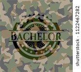 bachelor camouflage emblem   Shutterstock .eps vector #1122467282