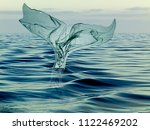 tail of a whale of garbage... | Shutterstock . vector #1122469202