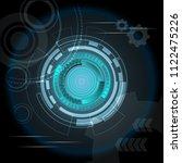 scientific futuristic...   Shutterstock .eps vector #1122475226