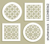 templates for laser cutting ... | Shutterstock .eps vector #1122480362