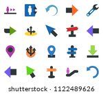 colored vector icon set  ... | Shutterstock .eps vector #1122489626