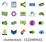 colored vector icon set   right ... | Shutterstock .eps vector #1122489632