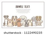 herd of dogs with sample text.... | Shutterstock .eps vector #1122490235