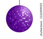 purple disco ball drawn in... | Shutterstock .eps vector #1122499925
