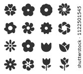 flower icon vector  | Shutterstock .eps vector #1122501545