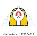 woman weeping. girl crying head.... | Shutterstock .eps vector #1122504815
