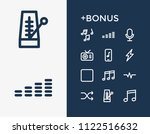 sound icon set and shuffle with ...