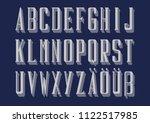 graphic german alphabet | Shutterstock .eps vector #1122517985