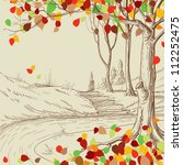 Autumn Tree In The Park Sketch...