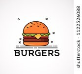 burger icon isolated on white... | Shutterstock .eps vector #1122526088