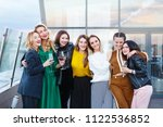 company of beautiful young... | Shutterstock . vector #1122536852