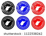west virginia   rubber stamp  ... | Shutterstock .eps vector #1122538262