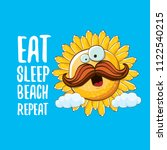 Eat Sleep Beach Repeat Vector...
