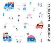 summer food festival. street... | Shutterstock .eps vector #1122540788