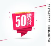 50  off half price commercial... | Shutterstock .eps vector #1122541532
