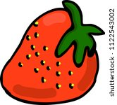 juicy bright strawberry vector... | Shutterstock .eps vector #1122543002