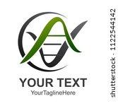 bio dna logotype. linear... | Shutterstock .eps vector #1122544142