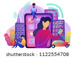 people using different... | Shutterstock .eps vector #1122554708