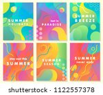 unique artistic summer cards... | Shutterstock .eps vector #1122557378
