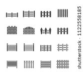 fence icon set | Shutterstock .eps vector #1122558185