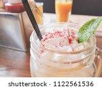 fresh delicious dessert in the... | Shutterstock . vector #1122561536