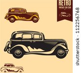 vintage car. classic car. | Shutterstock .eps vector #112256768