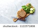 ingredients for healthy home... | Shutterstock . vector #1122571808