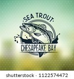 vintage sea trout fishing... | Shutterstock .eps vector #1122574472