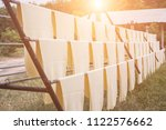 rubber sheets dry the raw...   Shutterstock . vector #1122576662