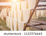 rubber sheets dry the raw...   Shutterstock . vector #1122576665