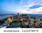 panoramic city skyline in... | Shutterstock . vector #1122578975